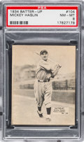 Baseball Cards:Singles (1930-1939), 1934-36 R318 Batter-Up Mickey Haslin #104 PSA NM-MT 8 - Only One Higher. ...