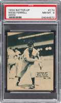 Baseball Cards:Singles (1930-1939), 1934-36 R318 Batter-Up Wess Ferrell #174 PSA NM-MT 8 - Pop Two,None Higher. ...
