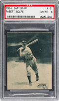 Baseball Cards:Singles (1930-1939), 1934-36 R318 Batter-Up Robert Rolfe #181 PSA NM-MT 8 - Pop Two,None Higher. ...