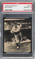 Baseball Cards:Singles (1930-1939), 1934-36 R318 Batter-Up Gus Suhr #187 PSA NM-MT 8 - Pop One, NoneHigher!...
