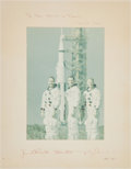 Miscellaneous Collectibles:General, 1969 Apollo 9 Multi Signed Oversized Photograph. ...
