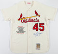 Baseball Collectibles:Uniforms, Bob Gibson Signed St. Louis Cardinals Flannel Jersey....