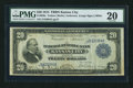 Fr. 826a $20 1915 Federal Reserve Bank Note PMG Very Fine 20