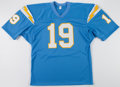 "Football Collectibles:Uniforms, Lance Alworth ""Bambi"" Signed San Diego Chargers Jersey...."