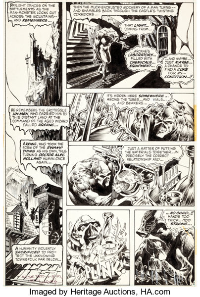 Original Comic ArtPanel Pages Bernie Wrightson Swamp Thing 3 Page 2