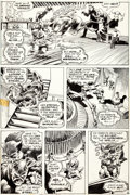 Original Comic Art:Panel Pages, Bernie Wrightson Swamp Thing #4 Page 20 Original Art (DC,1973)....
