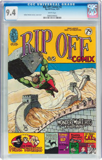 Rip Off Comix #2 (Rip Off Press, 1977) CGC NM 9.4 White pages