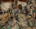 Fine Art - Painting, American:Modern  (1900 1949)  , Albert Bloch (American, 1882-1961). The Forgotten Garden,1947. Oil on canvas. 18-1/4 x 22 inches (46.4 x 55.9 cm). Init...