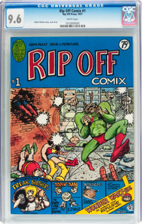 Rip Off Comix #1 (Rip Off Press, 1977) CGC NM+ 9.6 White pages