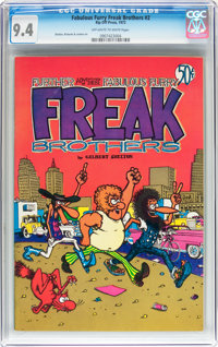 The Fabulous Furry Freak Brothers #2 (Rip Off Press, 1972) CGC NM 9.4 Off-white to white pages