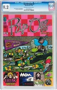 Rip Off Comix #4 (Rip Off Press, 1978) CGC NM- 9.2 Off-white to white pages