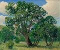 Texas:Early Texas Art - Impressionists, Dwight Clay Holmes (American, 1900-1986). Prayer MeetingTree. Oil on canvas. 20 x 24 inches (50.8 x 61.0 cm). Signedlo...