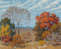 Texas:Early Texas Art - Impressionists, Fred Darge (American, 1900-1978). Fall Landscape. Oil oncanvasboard. 16 x 20 inches (40.6 x 50.8 cm). Signed lower righ...