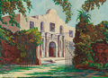 Texas:Early Texas Art - Modernists, Frank Calder (American, 1890-1968). Alamo. Oil on canvas. 33x 45 inches (83.8 x 114.3 cm). Signed lower left: Frank C...