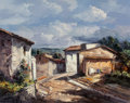 Texas:Early Texas Art - Regionalists, José Vives-Atsara (Spanish/American, 1919-2004). Una Calle DelPueblo, Catalonia, Spain, 1975. Oil on canvas. 16 x 20 in...