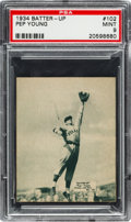 Baseball Cards:Singles (1930-1939), 1934-36 R318 Batter-Up Pep Young #102 PSA Mint 9 - Pop One, NoneHigher!...