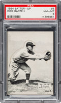 Baseball Cards:Singles (1930-1939), 1934-36 R318 Batter-Up Dick Bartell #4 PSA NM-MT 8 - Pop Two, NoneHigher! ...