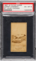 Baseball Cards:Singles (Pre-1930), 1887 N172 Old Judge Charles Comiskey (#86-2) PSA EX-MT 6. ...