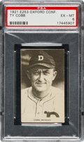 Baseball Cards:Singles (Pre-1930), 1921 E253 Oxford Confectionary Ty Cobb PSA EX-MT 6 - Only OneHigher. ...