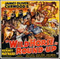 """Movie Posters:Western, Wild Horse Round-Up (Ambassador Pictures, 1936). Six Sheet (79.5"""" X 80.5""""). Western.. ..."""