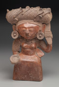 Pre-Columbian:Ceramics, A Maya Seated Woman Votive Effigy. c. 400 - 600 AD. ...