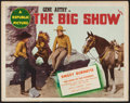 "Movie Posters:Western, The Big Show (Republic, 1937). Title Lobby Card (11"" X 14""). Western.. ..."