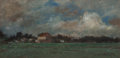 Fine Art - Painting, American:Antique  (Pre 1900), Joseph Frank Currier (American, 1843-1909). Stormy Sky, DuskLandscape, and Morning Landscape (three works). Pastel... (Total: 3 Items)
