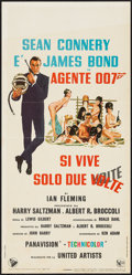 "Movie Posters:James Bond, You Only Live Twice (United Artists, 1967). Italian Locandina (13""X 27.5""). James Bond.. ..."
