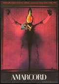"""Movie Posters:Foreign, Amarcord (Central Film, 1974). Czech Poster (11"""" X 15.75""""). Foreign.. ..."""