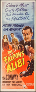 "Movie Posters:Mystery, The Falcon's Alibi (RKO, 1945). Insert (14"" X 36""). Mystery.. ..."
