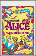 "Movie Posters:Animation, Alice in Wonderland (Buena Vista, R-1974). Window Card (14"" X 22"").Animation.. ..."