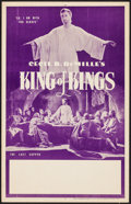 """Movie Posters:Historical Drama, The King of Kings (R-1950s). Locally Produced Window Card (14"""" X22""""). Historical Drama.. ..."""