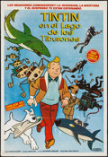 "Movie Posters:Animation, Tintin and the Lake of Sharks (Argentina Sono Film, 1972).Argentinean Poster (29"" X 43""). Animation.. ..."