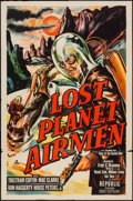 "Movie Posters:Science Fiction, Lost Planet Airmen (Republic, 1951). One Sheet (27"" X 41""). ScienceFiction.. ..."