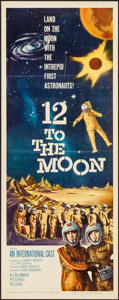 "Movie Posters:Science Fiction, 12 to the Moon (Columbia, 1960). Insert (14"" X 36""). ScienceFiction.. ..."