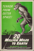 """Movie Posters:Science Fiction, 20 Million Miles to Earth (Columbia, R-1971). One Sheet (27"""" X41""""). Science Fiction.. ..."""