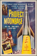 "Movie Posters:Science Fiction, Project Moon Base (Lippert, 1953). One Sheet (27"" X 41""). ScienceFiction.. ..."