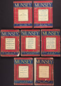 Books:Fiction, Edgar Rice Burroughs. The Girl from Hollywood. Completesix-part serial in Munsey's Magazine, plus issue announc...