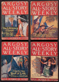 Books:Fiction, Edgar Rice Burroughs. The Efficiency Expert. Completefour-part serial in Argosy All-Story Weekly, 1921....