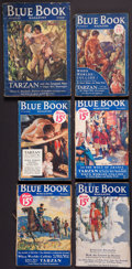 Books:Fiction, Edgar Rice Burroughs. Tarzan and the Leopard Men. Completein six serialized parts in The Blue Book Magazine, 19...