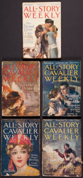 Books:Science Fiction & Fantasy, [Pulps]. Edgar Rice Burroughs. Five Issues of All-Story Weekly. ...