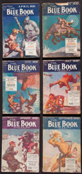 Books:Fiction, Edgar Rice Burroughs. A Fighting Man of Mars. New York: BlueBook Magazine, April-September, 1930....