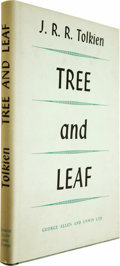 Books:First Editions, J. R. R. Tolkien: Tree and Leaf (London: George Allen &Unwin, 1964), first edition, 92 pages, green cloth with gilt let...(Total: 1 Item)