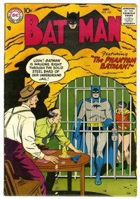 Batman #110 (DC, 1957) Condition: FN+. Jail cell cover by Curt Swan. Joker story. Dick Sprang and Sheldon Moldoff art. O...
