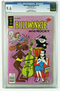 Bullwinkle #18 File Copy (Gold Key, 1977) CGC NM+ 9.6 Off-white to white pages. This is the highest CGC graded copy to d...