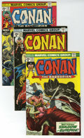 Bronze Age (1970-1979):Miscellaneous, Conan the Barbarian Box Lot (Marvel, 1975-77) Condition: AverageVF-. This full long box includes approximately 200 comics. ...