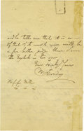 "Autographs:Inventors, Michael Faraday Autograph Letter Signed ""M. Faraday,"" twopages, 4.5"" x 7"", front and verso. London, March 23, 1857. To ...(Total: 1 Item)"