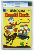 Golden Age (1938-1955):Cartoon Character, Donald Duck #30 File Copy (Dell, 1953) CGC VF+ 8.5 Off-white pages.Carl Barks cover. Overstreet 2005 VF 8.0 value = $86; VF...