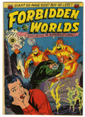 Golden Age (1938-1955):Science Fiction, Forbidden Worlds #2 (ACG, 1951) Condition: FN+. Overstreet 2005 FN6.0 value = $198; VF 8.0 value = $413....