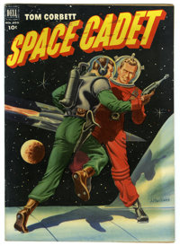 Four Color #400 Tom Corbett Space Cadet (Dell, 1952) Condition: VF+. Great Al McWilliams painted cover. Overstreet 2005...